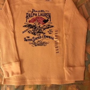 Ralph Lauren long sleeve t -shirt, cream. 4T NEW